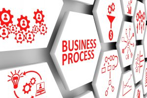 BUSINESS PROCESS concept cell background 3d illustration